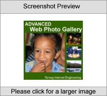 Advanced Web Photo Gallery Screenshot